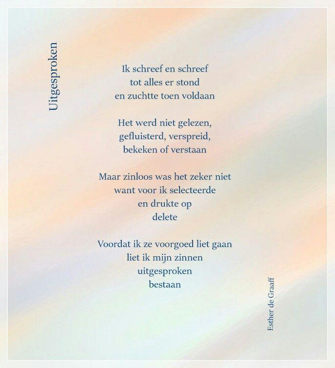 Pin Van Esther De Graaff Op Gedichtjes Gedichten