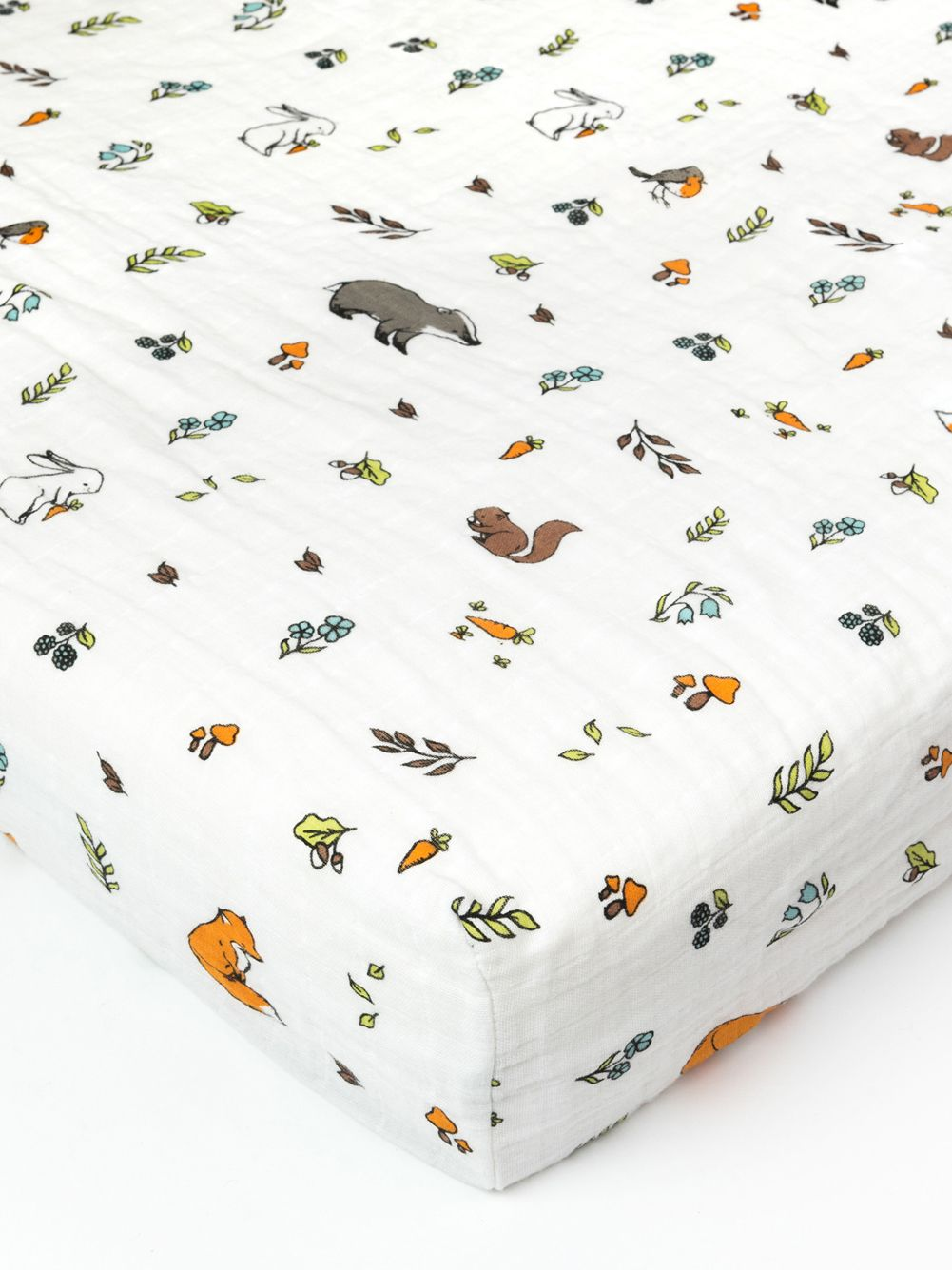 Organic Cotton Muslin Fitted Cotbed Sheet 140 X 70 Cm Into The