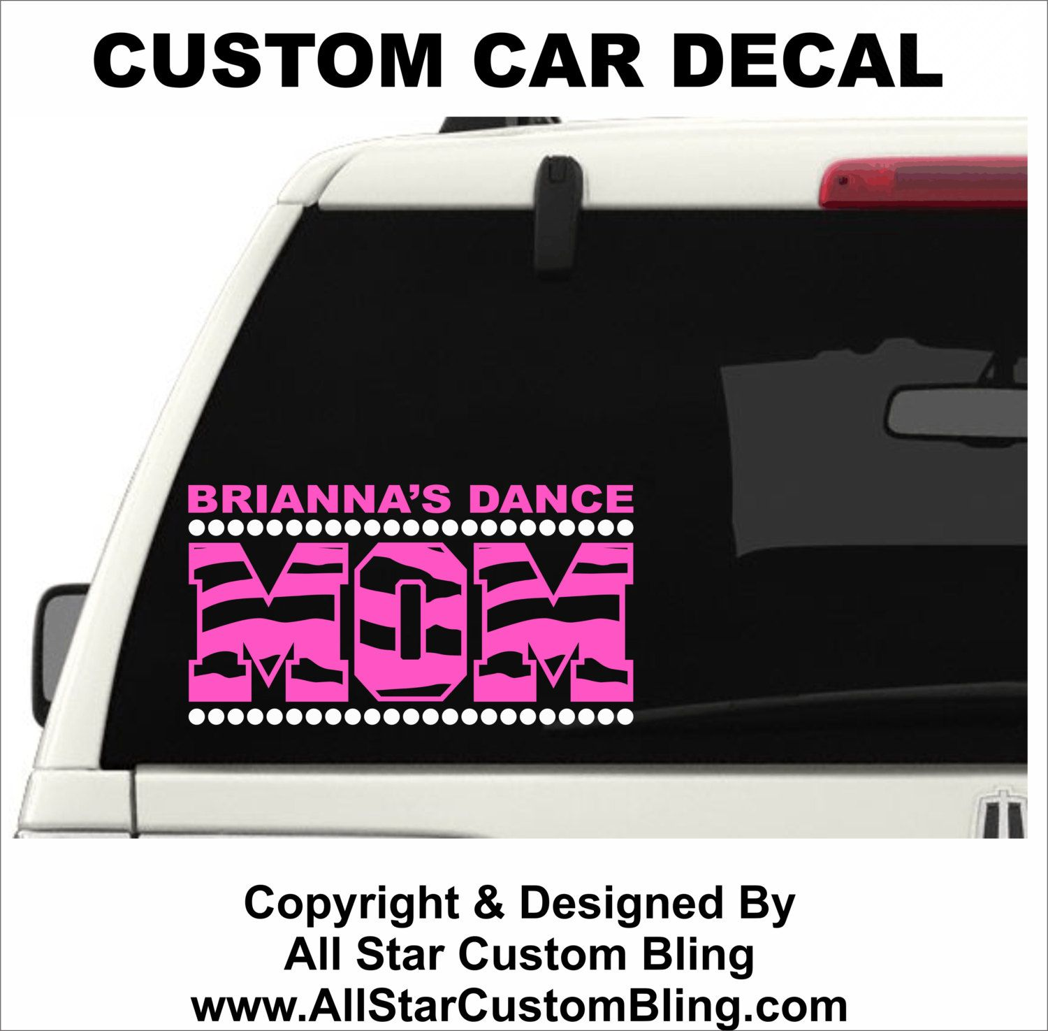 Custom Dance Mom Car Decal Custom Dance Car Decal Dance Mom - Window decal custom vinyl