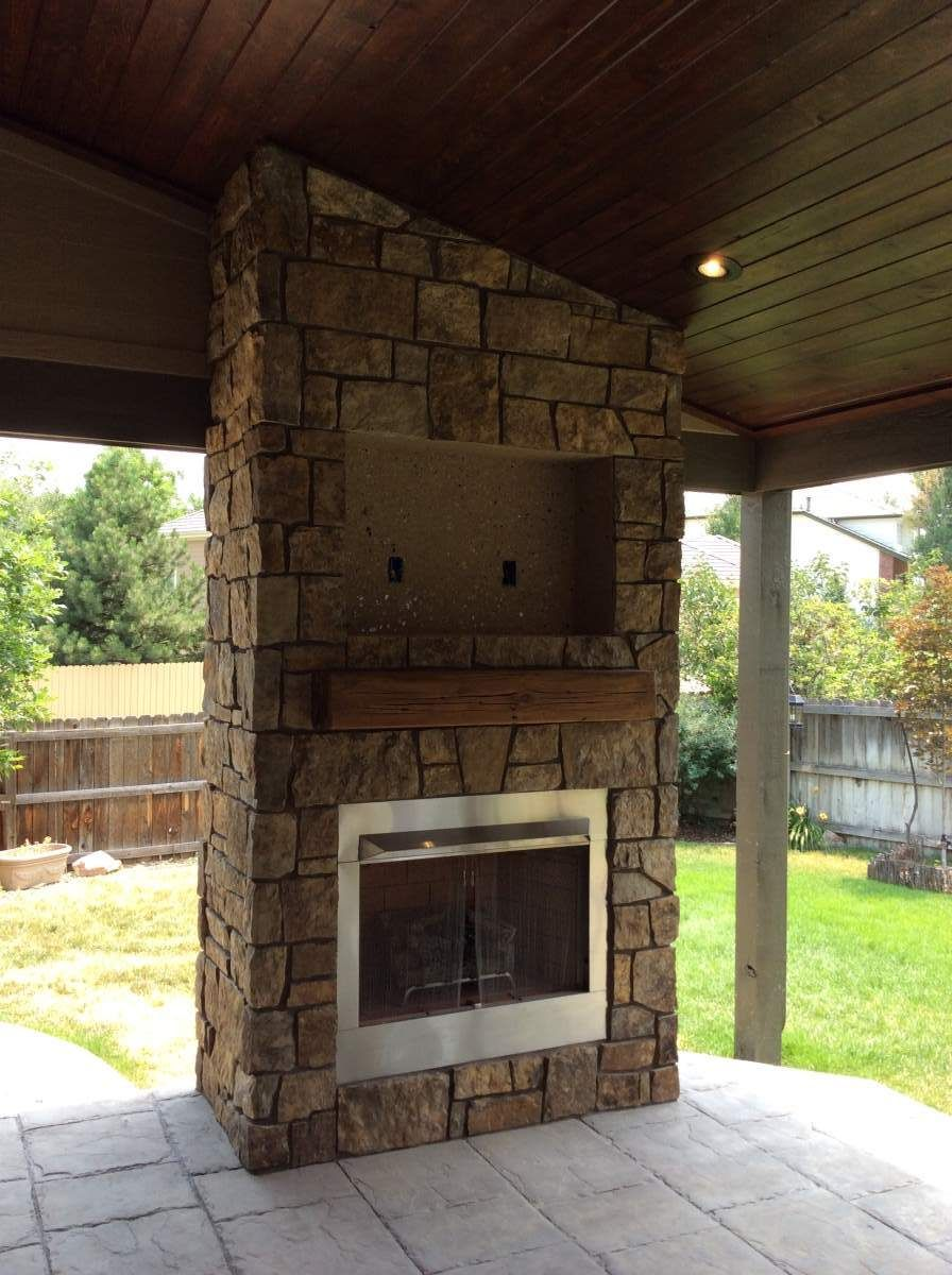 Unfinished Outdoor Gas Fireplace