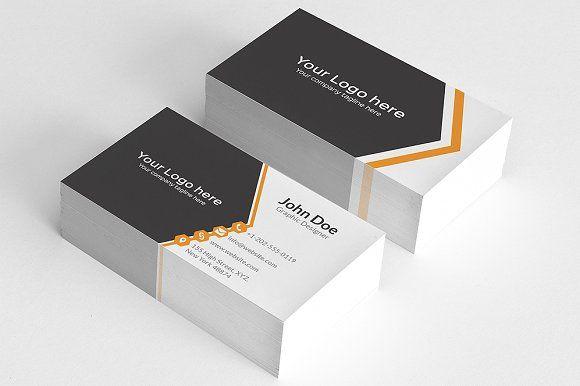 Simple Orange Aero Business Card Business Card Design Simple Simple Business Cards Business Card Template Design