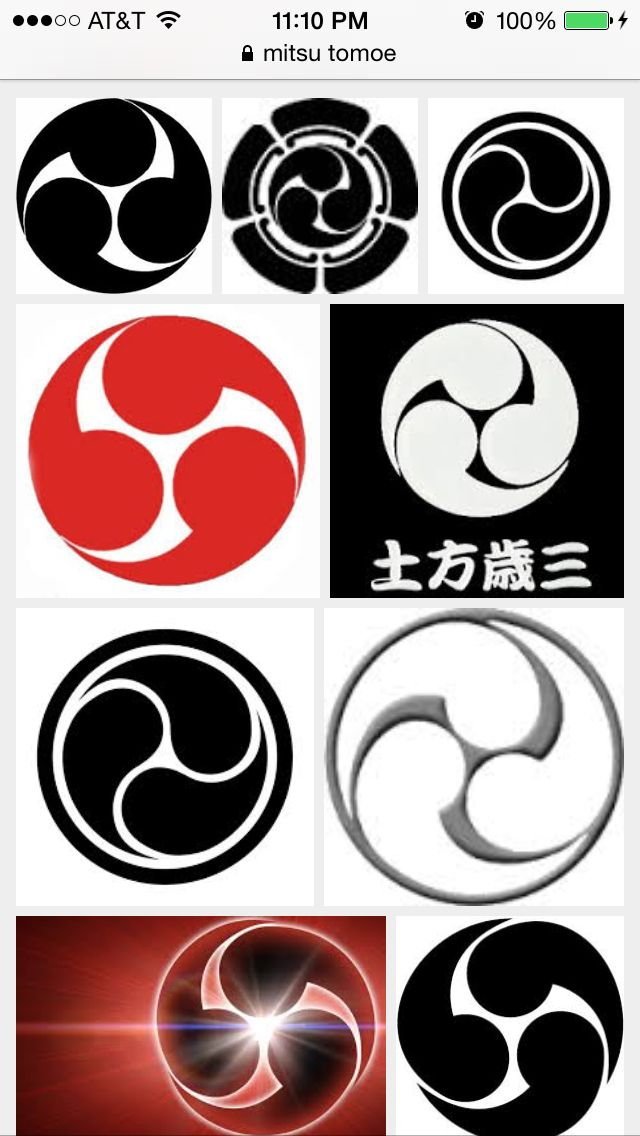Mitsu Tomoe World Unity Peace Tattoo Ideas Pinterest Unity