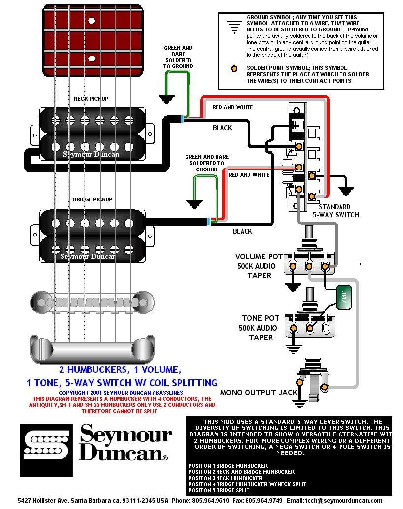 Wiring Diagram | PRS Dimarzio Seymour Duncan in 2019