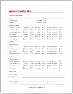 volunteer questionnaire template - volunteer evaluation form youth ministry leadership