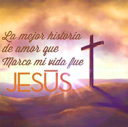 frases lindas de jesus con una cruz