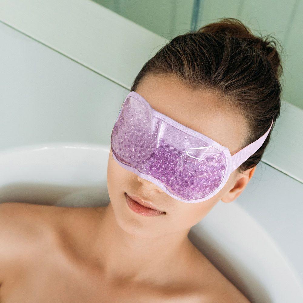 Maschera occhi rilassante con microsfere