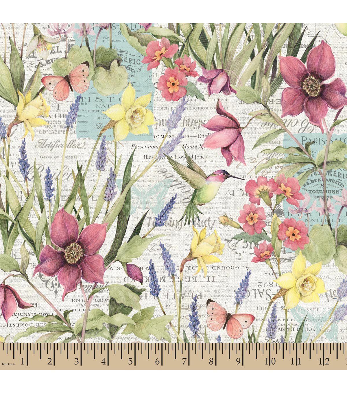 premium cotton fabric susan winget botanical buzz scenic fabric