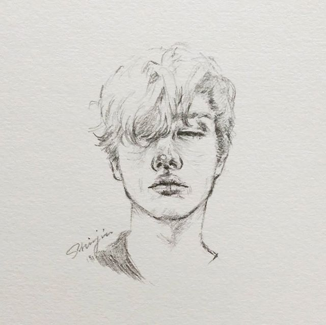 Drawingbijou model boy sketch doodle pencil shinjin art draw drawing 스케치 드로잉 illustration 인물화 남자 소