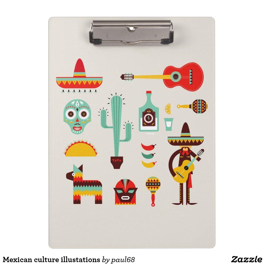 Mexican culture illustations clipboard   Zazzle.com #mexicanculture