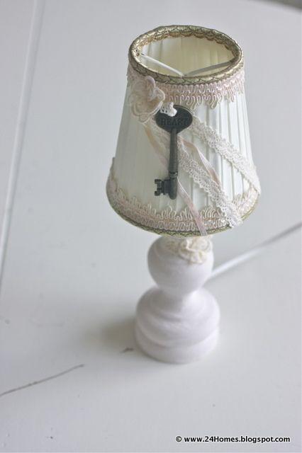 vintage lamp make over