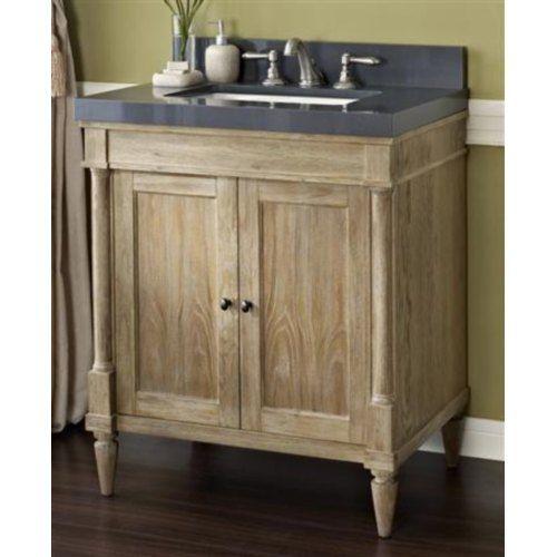 F142V30 Rustic Chic Vanity Base Bathroom Vanity - Weathered Oak at ...