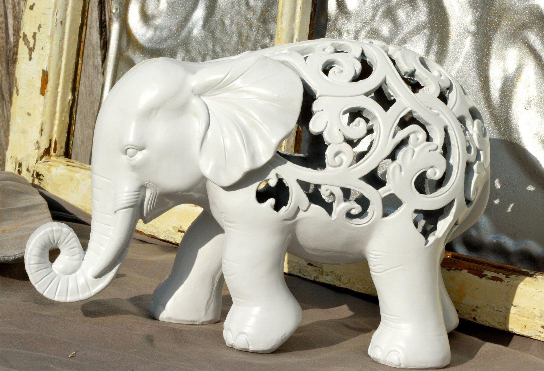 Elephant Figurine/ Ornate Elephant Figurine