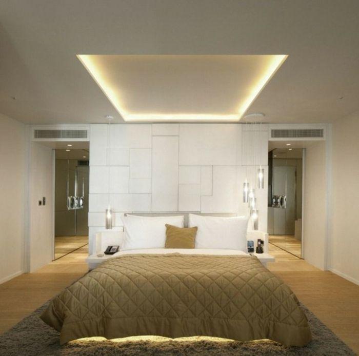 Uberlegen Led Zimmerbeleuchtung Indirektes Licht Moderne Einrichtung Schlafzimmer