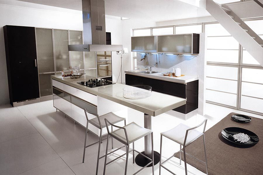 Retro Black And White Kitchen Design And Style Concepts With Luxury on small white kitchen gallery, small kitchen designs, small kitchen layouts gallery, small kitchen cabinets gallery, small country kitchen gallery, small kitchen style gallery, kitchen paint gallery,