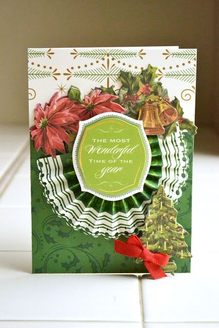 Anna Griffin paper - new Christmas collection - Emerald Forest