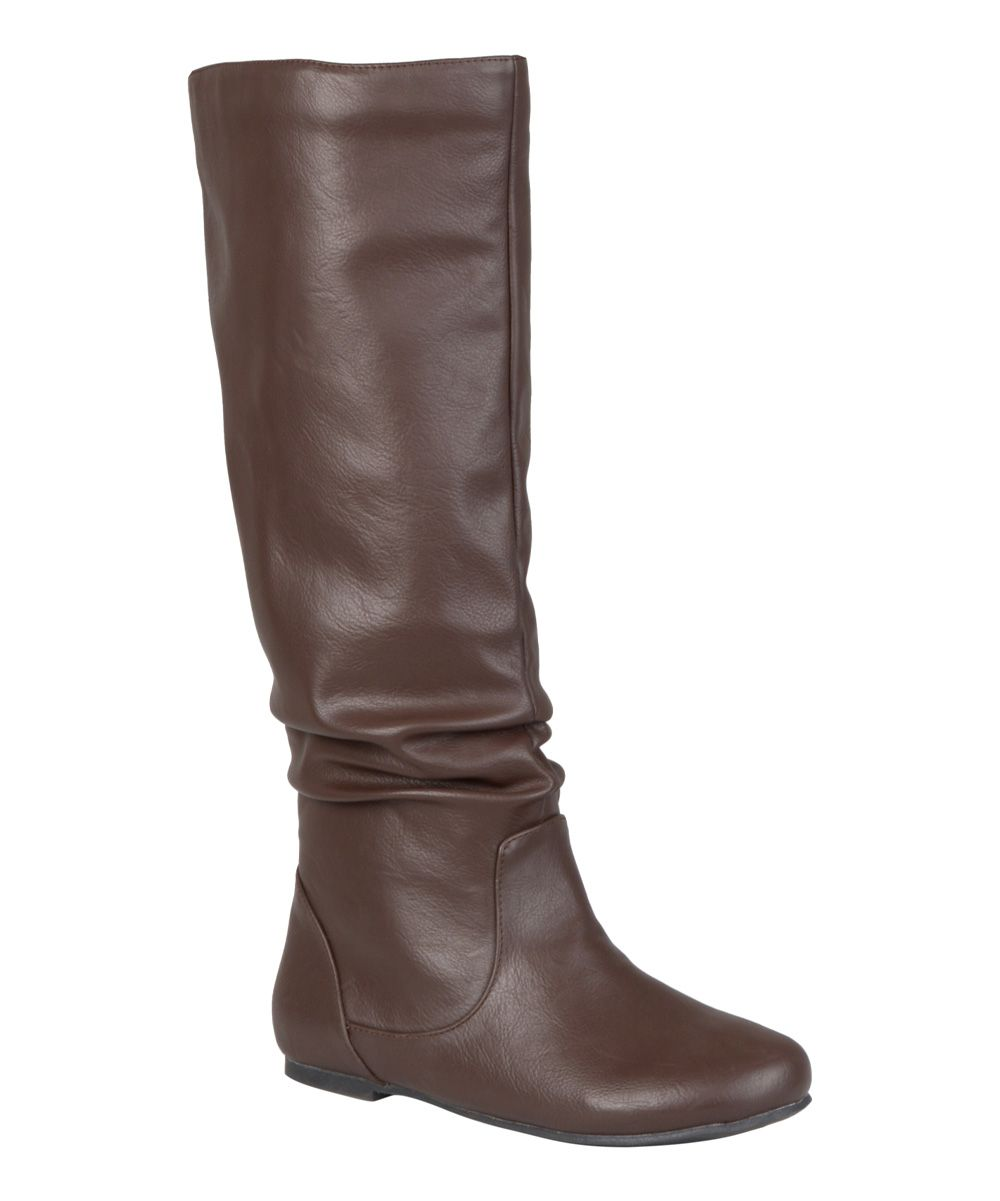 Brown Jayne Wide-Calf Boot