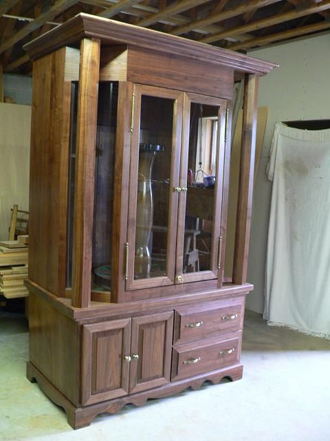 This Handsome Walnut Gun Cabinet Was Custom Built Right Here In Tennesse Each Piece
