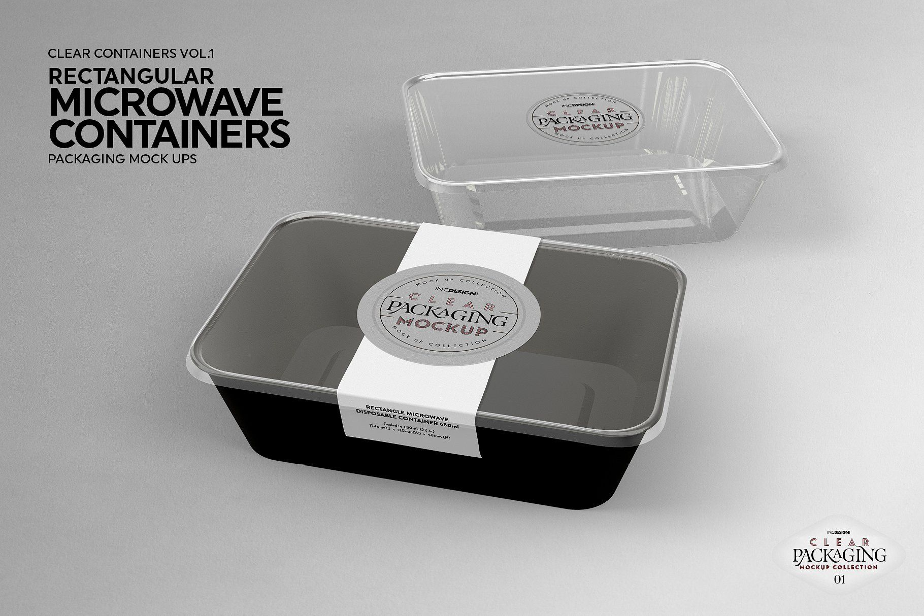 microwave containers packagingmockup