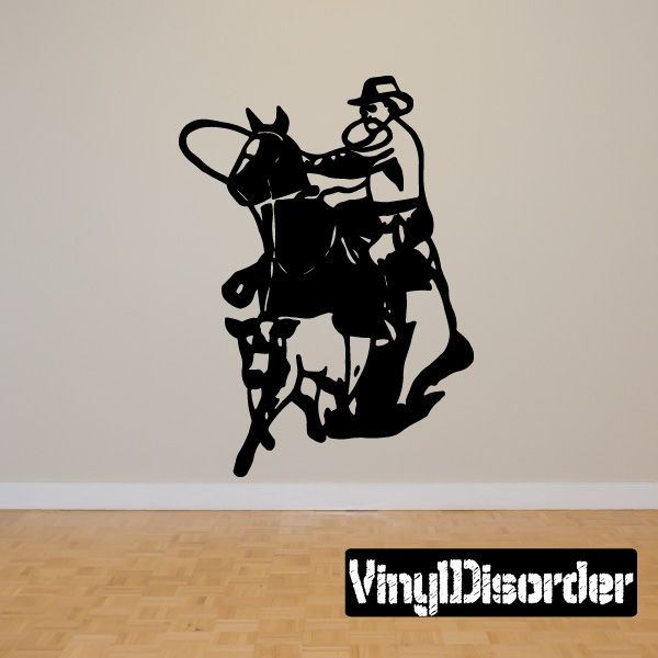 Cowgirl Wall Decal - Vinyl Decal - Car Decal - 088 & Cowgirl Wall Decal - Vinyl Decal - Car Decal - 088 | Bull riding