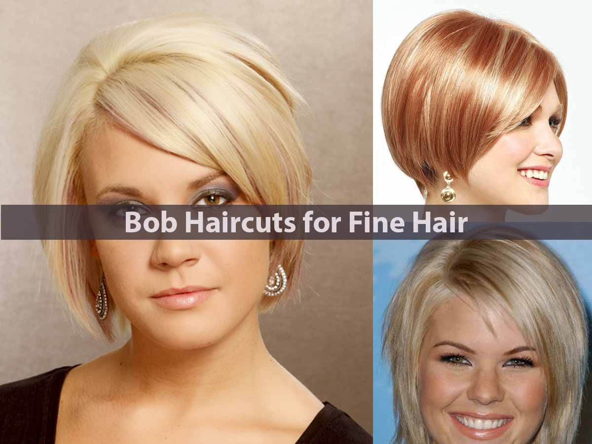 Amazing Bob Haircuts For Fine Hair Hairstyle Women