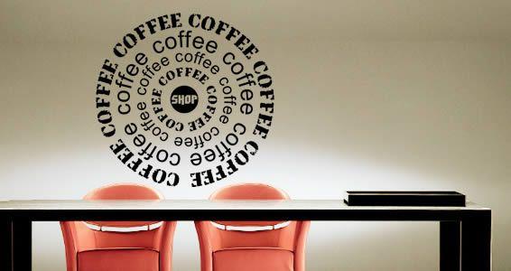 coffee shop vinyl wall art | misc things that caught my eye | vinyl