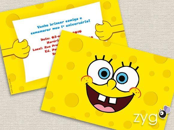 Invitation idea Sponge Bob Theme Pinterest – Spongebob Birthday Party Invitations