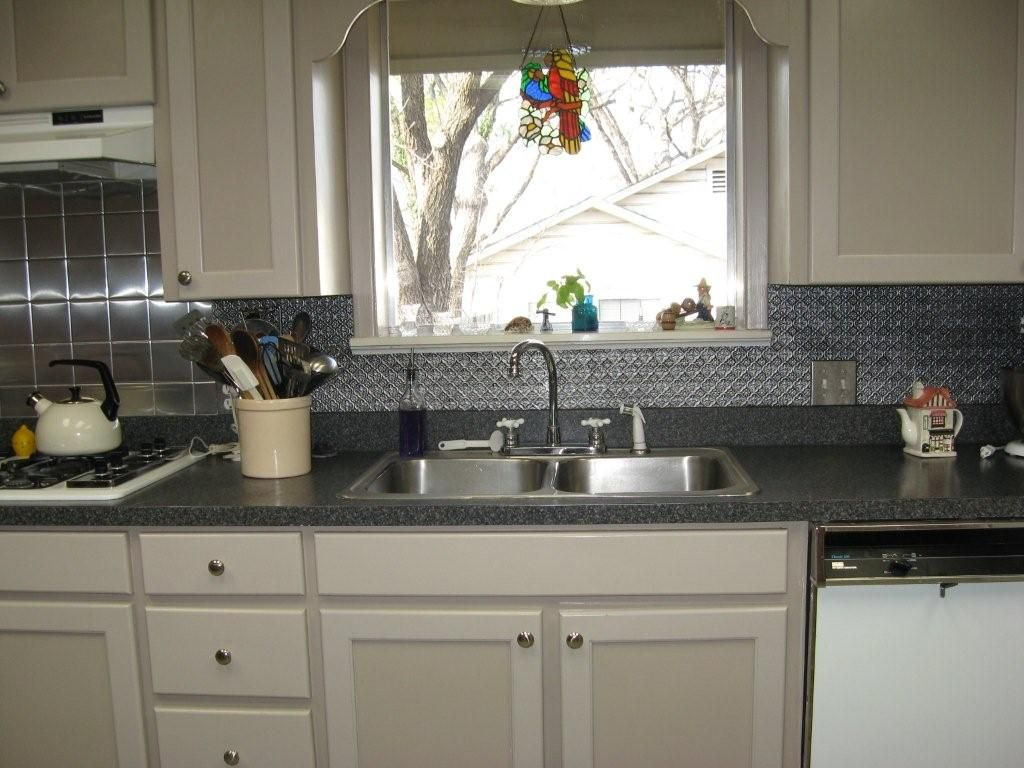 Tin Backsplash Tiles Selfadhesive  Themes Amp Sears Has The Best Tin Backsplash For Kitchen Decorating Inspiration