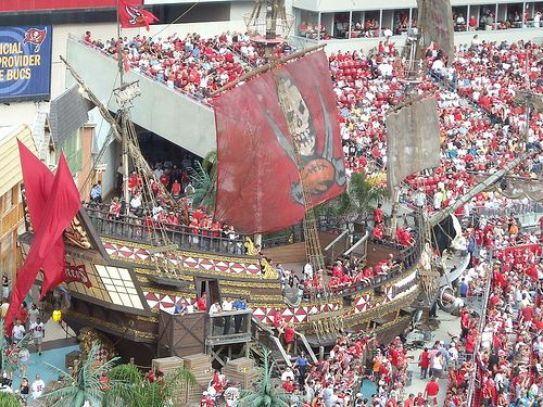 I Am Biased But I Must Say The Bucs Probably Have The Coolest Stadiums Ever I Mean What Other Stadium Has A Tampa Bay Buccaneers Tampa Buccaneers Buccaneers
