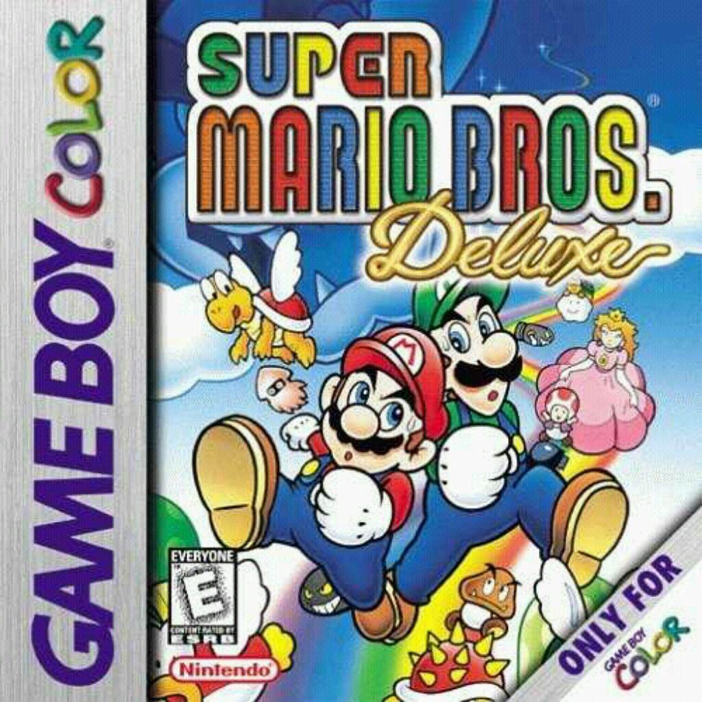 Super Mario Bros Deluxe Game Boy Color Box Super Mario Bros