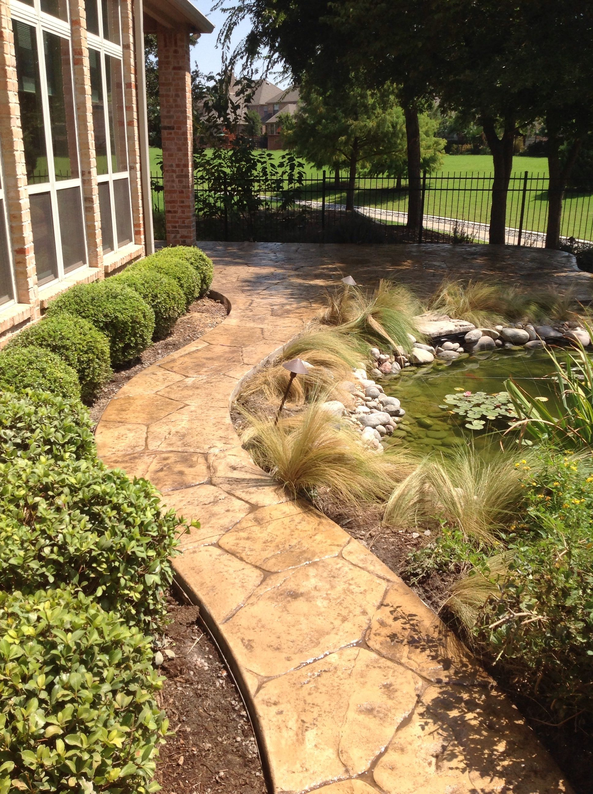 Stamped Concrete Walkway... | Stamped Concrete | Pinterest ...