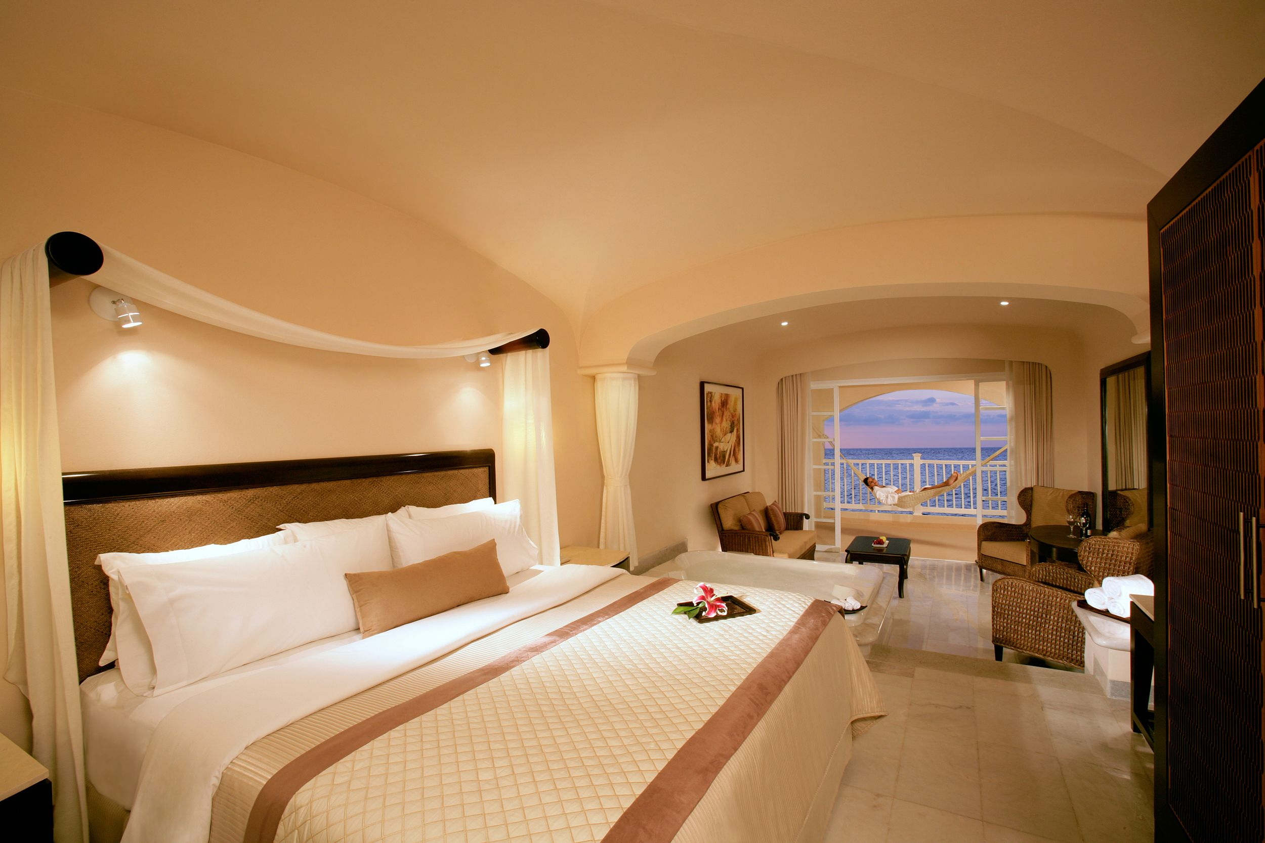 View of a Junior Suite at the Cozumel Palace