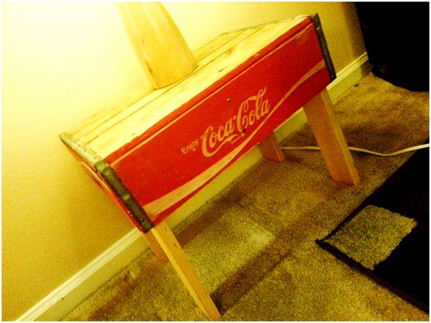 Budget Soda Crate End Tables tutorial