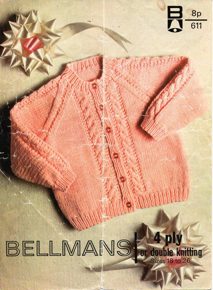 baby / childs cable cardigan knitting pattern PDF 4ply or DK cable ...