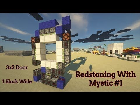 3x3 Door Redstone Tutorial https//cstu.io/3e01f8 (With