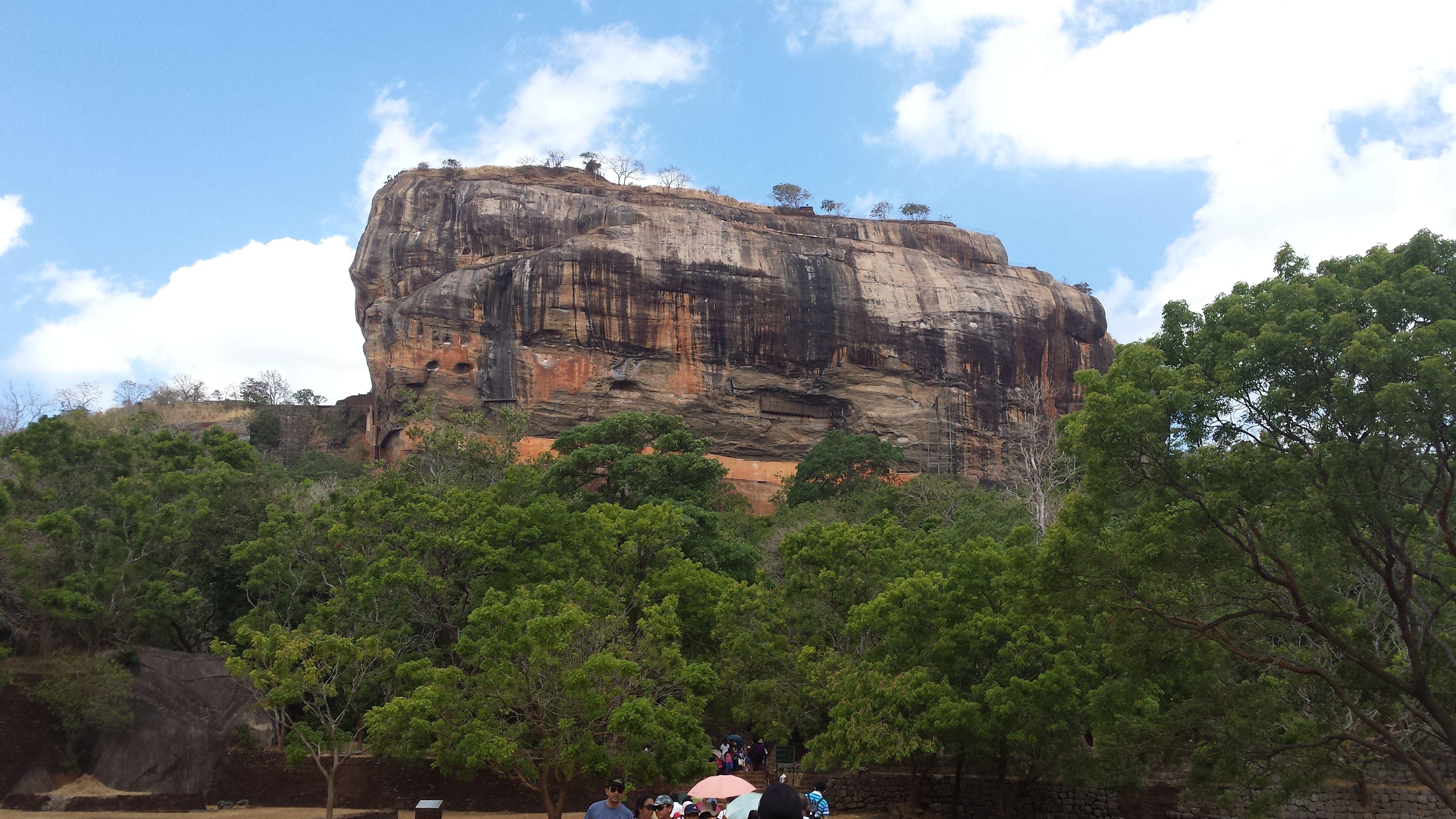 Sigiriya - an ancient rock fortress.