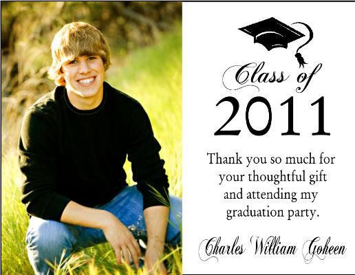 Graduation Thank You Cards Templates