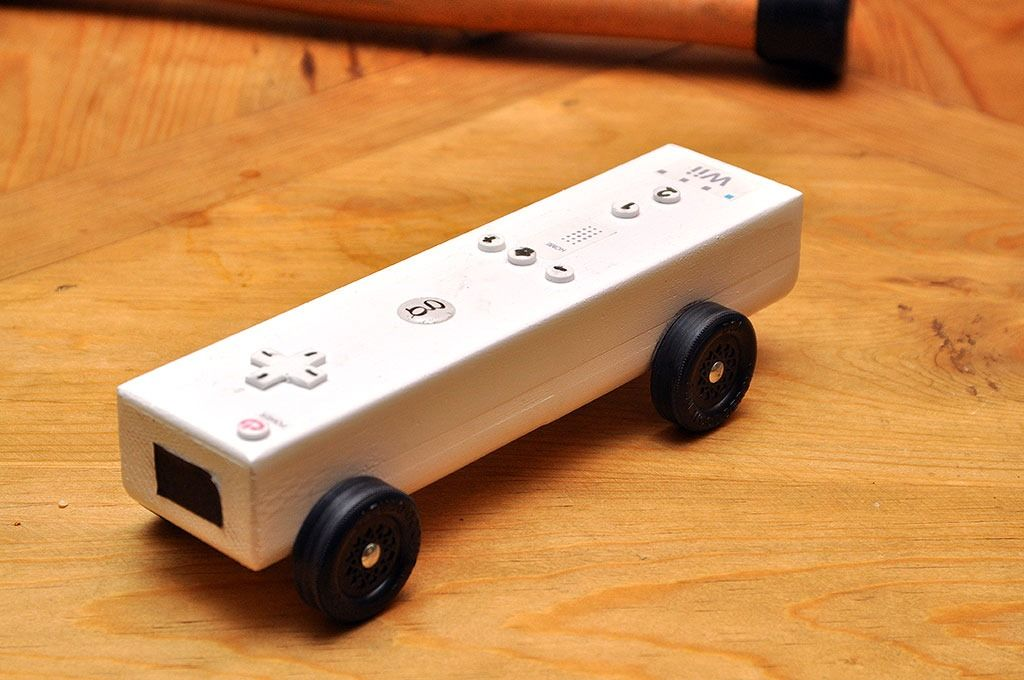 Wii Remote Derby Car | Pinewood Derby | Pinterest | Derby cars and ...