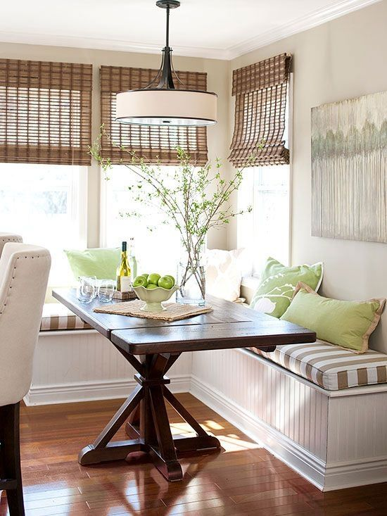 Farmhouse Dining Table With Pedestal Base For Breakfast Nook That