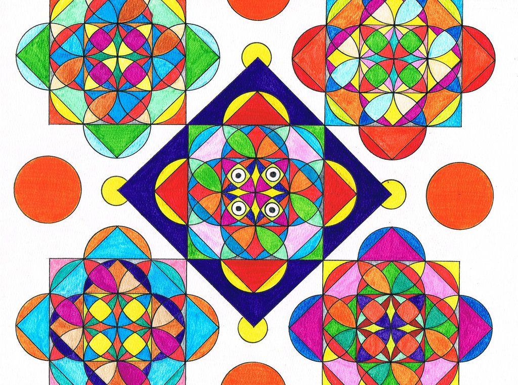 Картинки из треугольников кругов и квадратов для школы