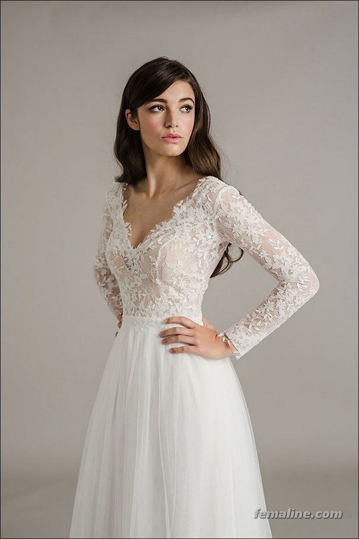 222 Beautiful Long Sleeve Wedding Dresses | Wedding dress, Weddings ...