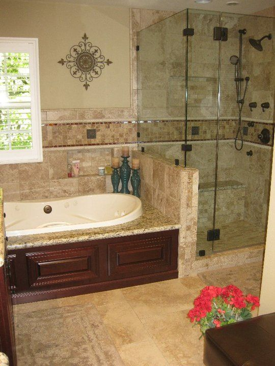 Jacuzzi tub and shower with nitch master bath remodel for Bathroom jacuzzi ideas