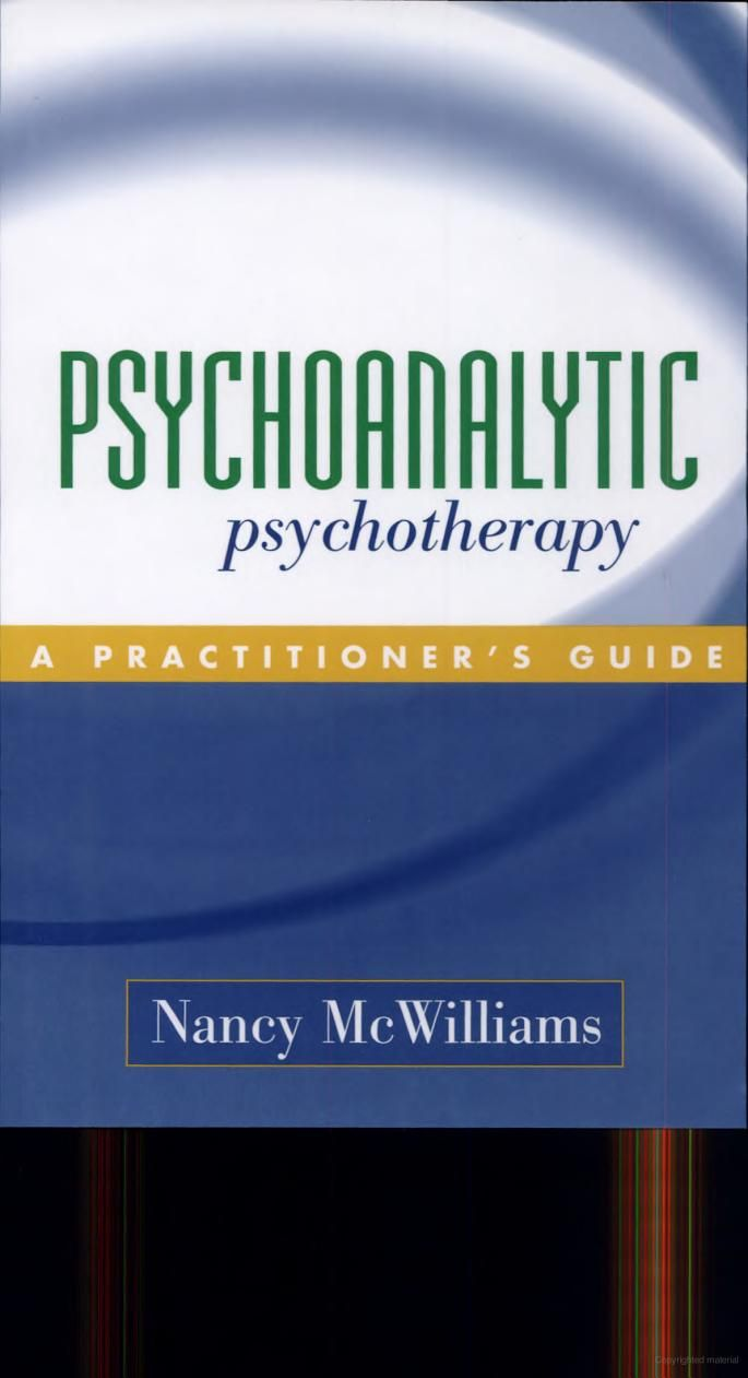 Nancy McWilliams: Psychoanalytic Psychotherapy | Science ...