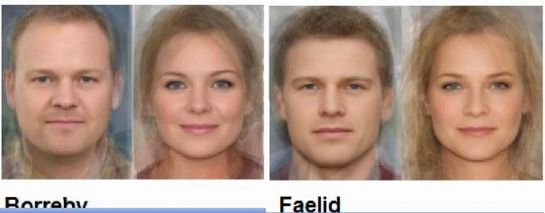 All germanic facial features think
