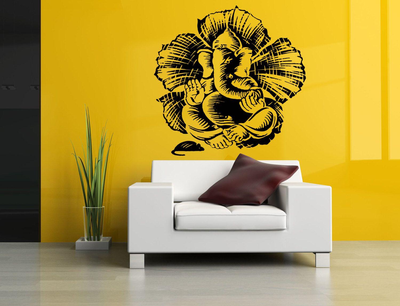 Wall Vinyl Sticker Decals Mural Room Design Pattern Ganesha ...