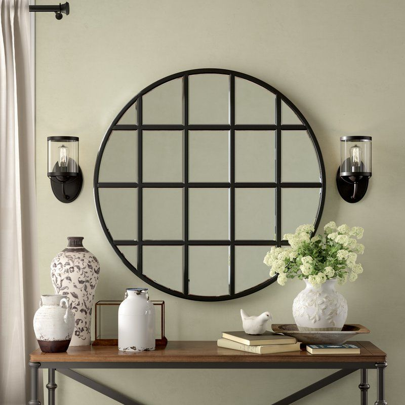 Yatendra Farmhouse Country Beveled Accent Mirror Wall Lights