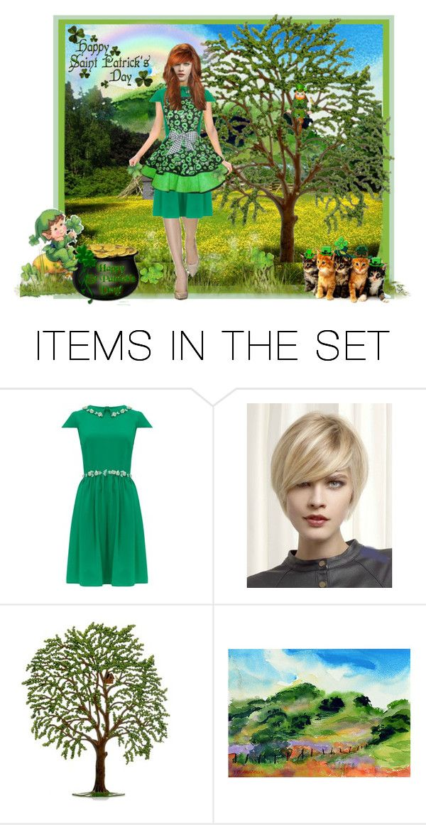 """""""Happy St. Patrick's Day"""" by beleev ❤ liked on Polyvore featuring art"""