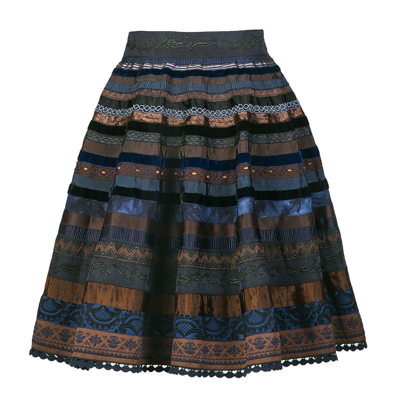 Ribbon Skirt blue chocolate - Ribbon Skirts - Online Shop ...