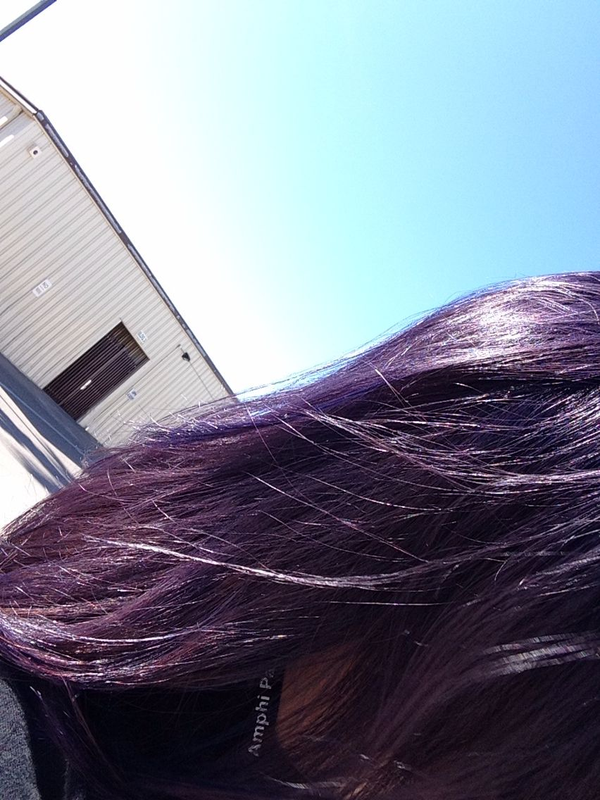 Purple Desire By Splat On Unbleached Dark Hair With Images