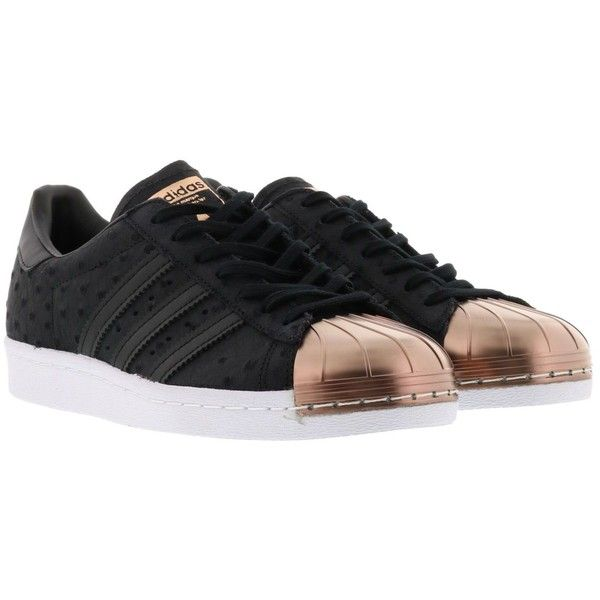 Black � Adidas Superstar Sneakers (�95) ? liked on Polyvore featuring shoes,  sneakers,