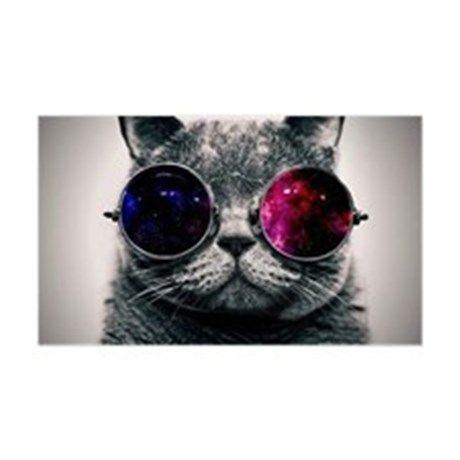 Cool Cat Galaxy Sticker Rectangle By Listing Store 121874545 Cafepress In 2021 Glasses Wallpaper Hipster Cat Cat Glasses Cat wearing glasses wallpaper hd